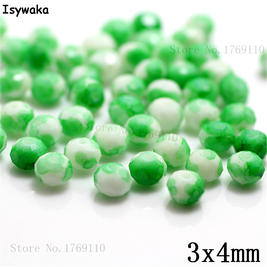 Isywaka 3X4mm 30,000pcs Rondelle Austria faceted Crystal Glass Beads Loose Spacer Round Beads Jewelry Making NO.57