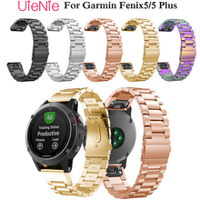 22mm watch band for Garmin Fenix 5 wristband for forerunner 935 GPS Strap with quick release metal stainless steel bracelet band