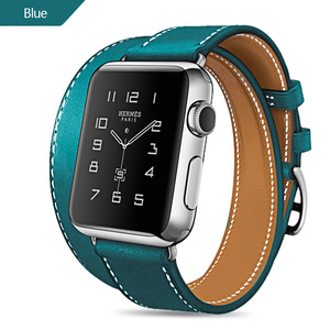 Image 5 - Long Soft Leather Band for Apple Watch Iwatch Series 6 5 4 3 2 40mm 44mm 38mm 42mm Double Tour Bracelet Strap for Smart Watch
