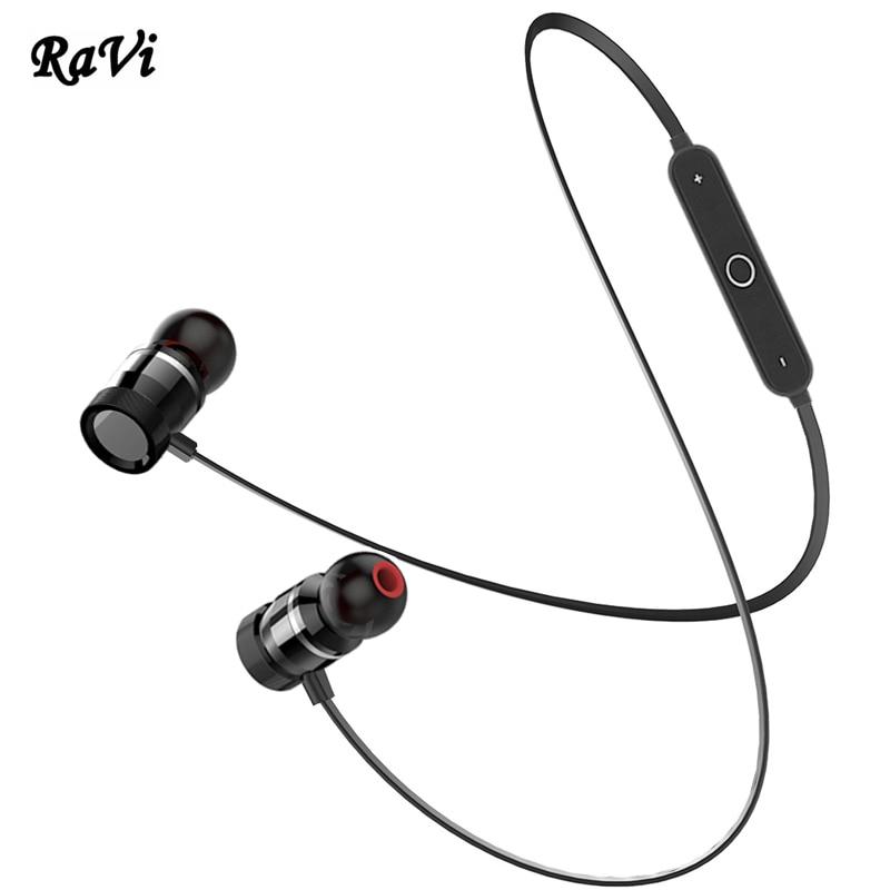 RAVI Wireless Bluetooth Headphones Sport Earphone Super Bass Headset With Mic Bluetooth Earpiece Headphone auriculares For Phone