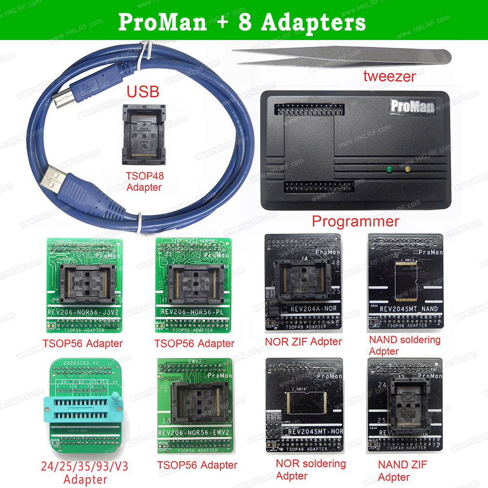 Chip Professional-Programmer Data-Recovery Proman Adapters TSOP48 NAND Nor With Copy