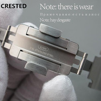 Хохлатая оригинальная натуральная для Apple watch группа 42 мм 38 мм Нержавеющая Сталь Ссылка Браслет ремешок iwatch серии 4 3 2 1 ремешок для часов