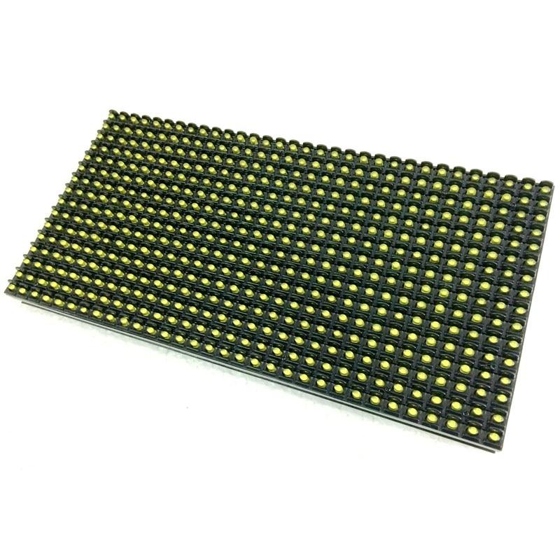 P10 Открытый Янтарный/желтый цвет высокой яркости светодиодный экран дисплей модуль водонепроницаемый 320*160 мм 32*16 пикселей hub12 порт 1/4 сканирования