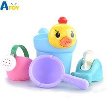 Мягкие силиконовые ванны воды развлечение игрушки для бассейна для детей Детская Ванная комната душ для детей несломанный открытый ролевые игры инструменты