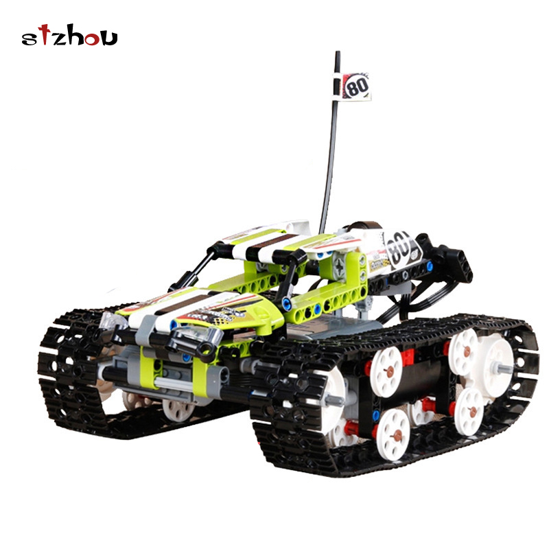 Shzou Hot 20033 397Pcs Technic Series The RC Track Remote-control Race Car Set Building Blocks Bricks Lovely Gifts Toys 42065