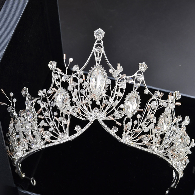 dfe6ed430b US $13.42 21% OFF|Gorgeous Crystal Silver Wedding Bridal Tiara Crown Bride  Headbands Women Prom Headdress Hair Ornaments Head Jewelry Accessories-in  ...