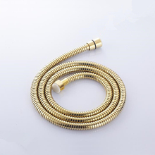 Stainless Steel gold 150cm Replacement Flexible Handheld Shower Hose For Bath Shower Promotion Free Shipping HP-7106K free shipping sus304 stainless steel double lock 1 5 2 2 5 3m shower hose with brass fitting for handheld shower and shower head