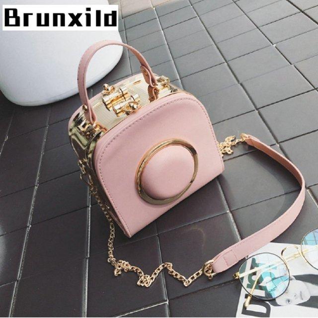 8b0d544b983f Fancy Handbag Mini Square Messenger Bag Camera Hat Pattern Round Metal Circle  Satchel Fashion Cross Body Shoulder Versipacks