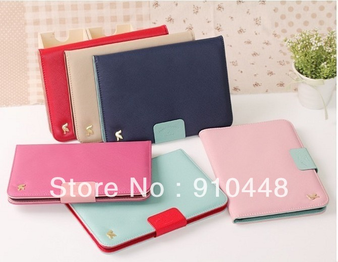 Free shipping High quality ID card Wallet with mirror PU leather flip case cover for ipad mini and mini 2 for ipad 2 3 4 high quality drawer locker mini size with id card reader