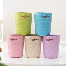 Натуральная Пшеница соломенная зеленая чашка, Корейская домашняя чашка, кофейная чашка, чайная чашка