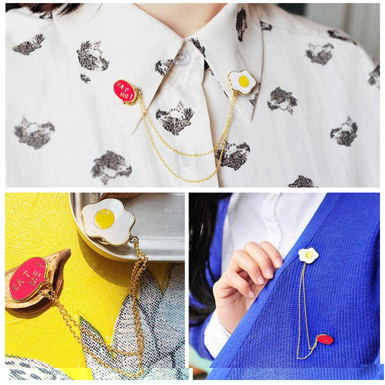 Hot fashion small white rabbit omelette Mount Fuji planet cloud lightning brooch collar pin jewelry men and women jewelry Bijoux