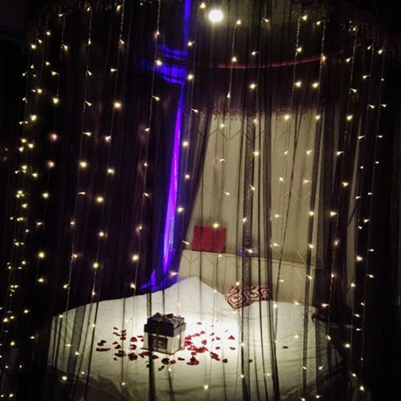 300leds Fairy String Icicle Led Curtain Light Xmas Christmas Wedding Garden Party Window Decor Eu Plug 220v 4.5m*3m Led String
