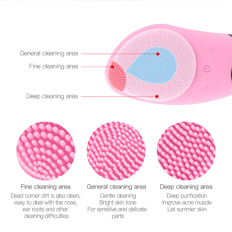 Image 4 - Mini Electric Facial Cleansing Brush Silicone Sonic Face Cleaner Deep Pore Cleaning Skin Massager Face Cleansing Brush Device-in Powered Facial Cleansing Devices from Home Appliances