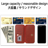 Genuine Leather Cover For Sony Xperia E5 Premium Case Wallet Card Slot Phone Coque For Sony