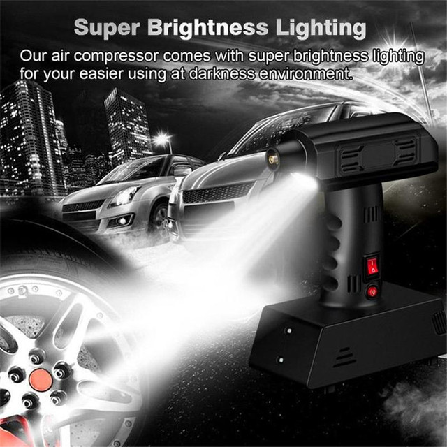 Portable Air Compressor 12V Tire Inflator Car Mobile Electric Small Tyre Pump
