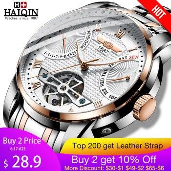 HAIQIN Мужские часы мужские s часы лучший бренд класса люкс автоматические механические Спортивные часы мужские наручные часы Tourbillon Reloj hombres 2018