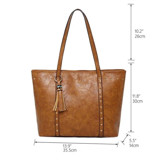 Rivet PU Leather Women Shoulder Bag 4