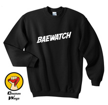 Baewatch Printed Shirt Bae Hot Girl Swag Graphic Print Slogan Top Crewneck Sweatshirt Unisex More Colors XS - 2XL