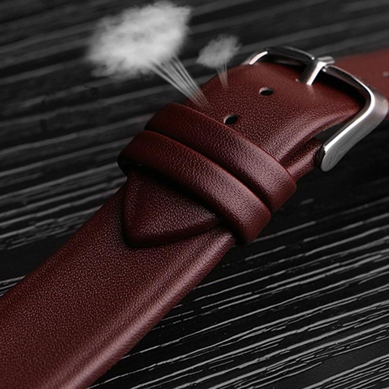 Watch Band Genuine Leather Straps Watchbands 12mm 14mm 16mm 18mm 20mm 22mm Watch Accessories Women Men Brown Black Belt Band стоимость