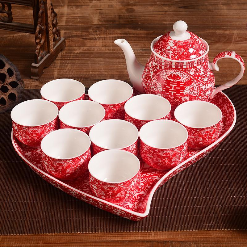 Asian Wedding Gift Baskets: High Grade Chinese Wedding Gift Bridal Supplies Red