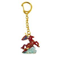 Feng Shui 2019 Bejewelled Flying Windhorse Keychain W3713