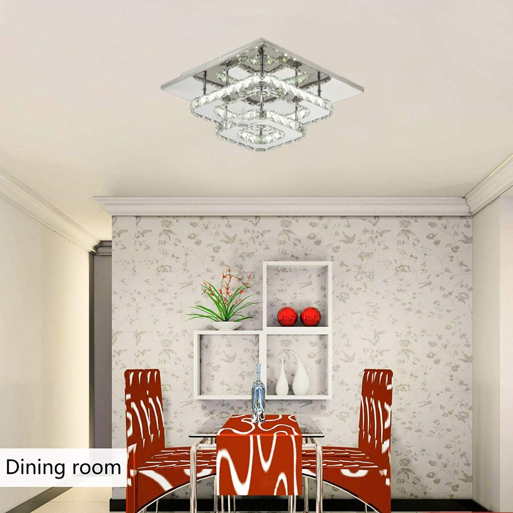 HTB1nXANXRr0gK0jSZFnq6zRRXXaZ Modern Crystal LED ceiling light Fixture For Indoor Lamp lamparas de techo Surface Mounting Ceiling Lamp For Bedroom