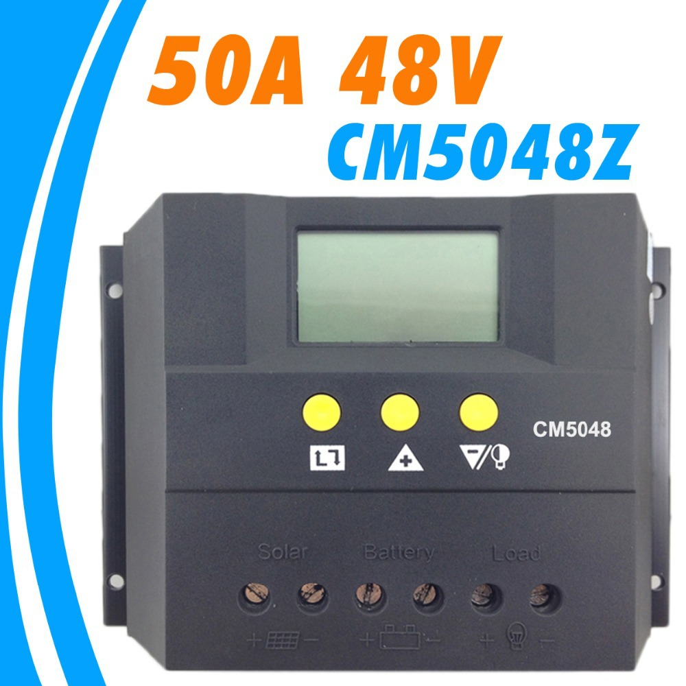 50A 48V Solar Controller PV Panel Battery Charge Controller Solar system Home indoor use PWM 50A