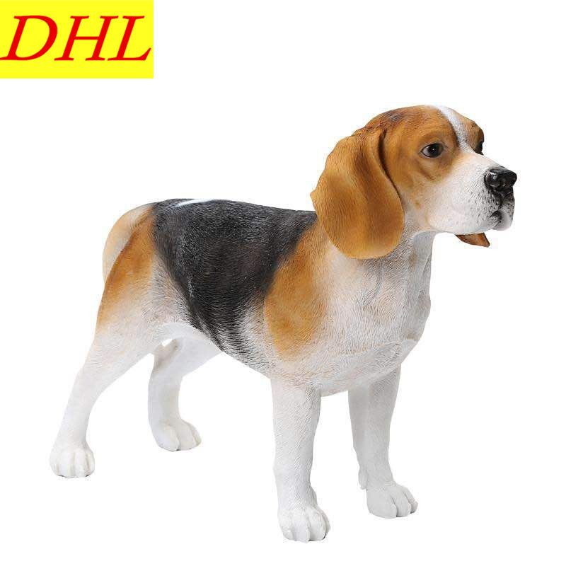 53cm Simulation Cute Beagle Animals Dogs Colophony Crafts Balcony Home Decorations Collectible Kids Gift Toy L1985 cute simulation bear animals boonie bears crafts continental home villa district decorations collectible model toy l1973