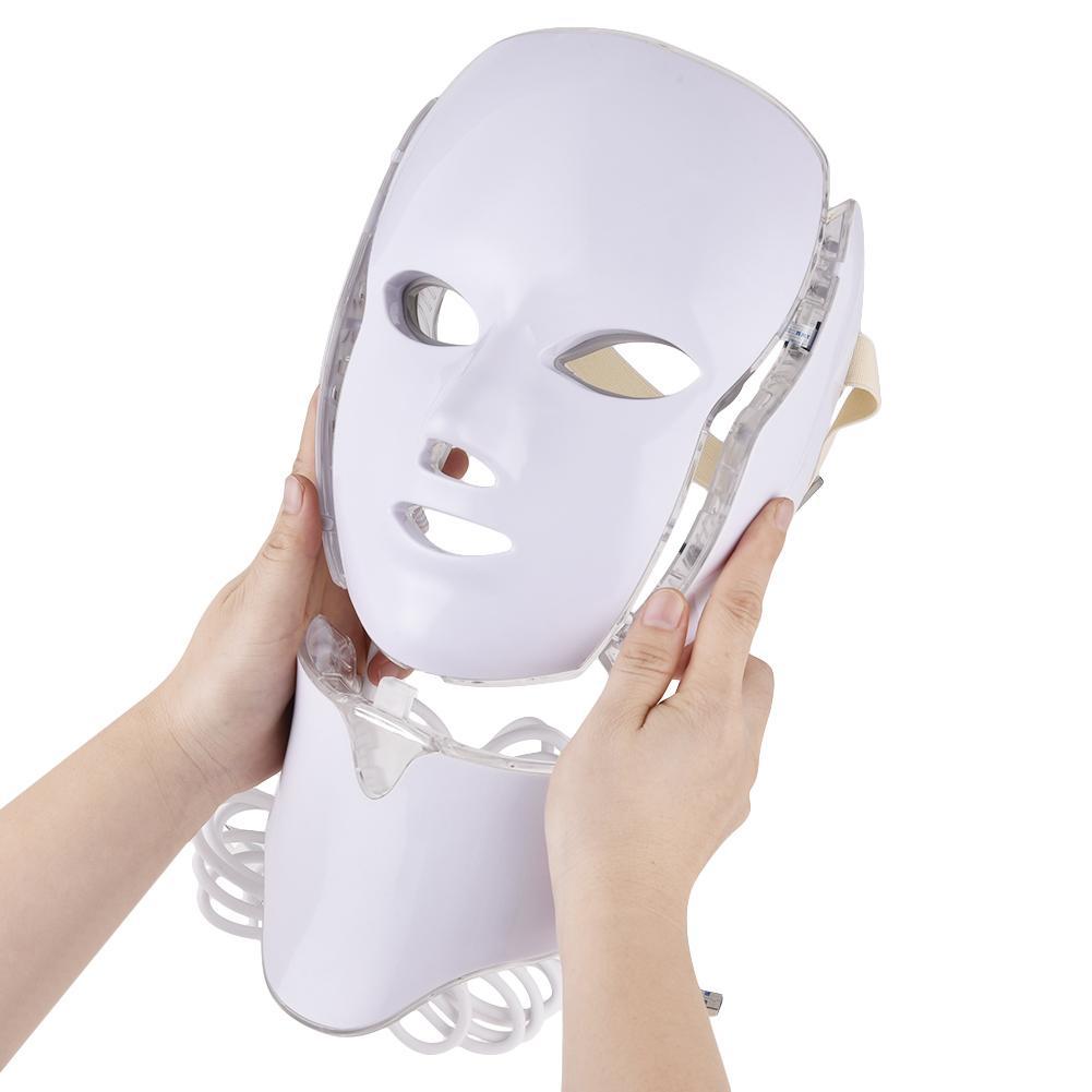 Sept couleurs lumière Led couleur masque PDT photodynamique Photon rajeunissement maison photothérapie masque Instrument de beauté