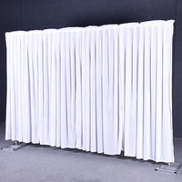 Flannel velvet wedding backdrop curtain drape wedding supplies background for party event birthday stage decoration Tied/Piped