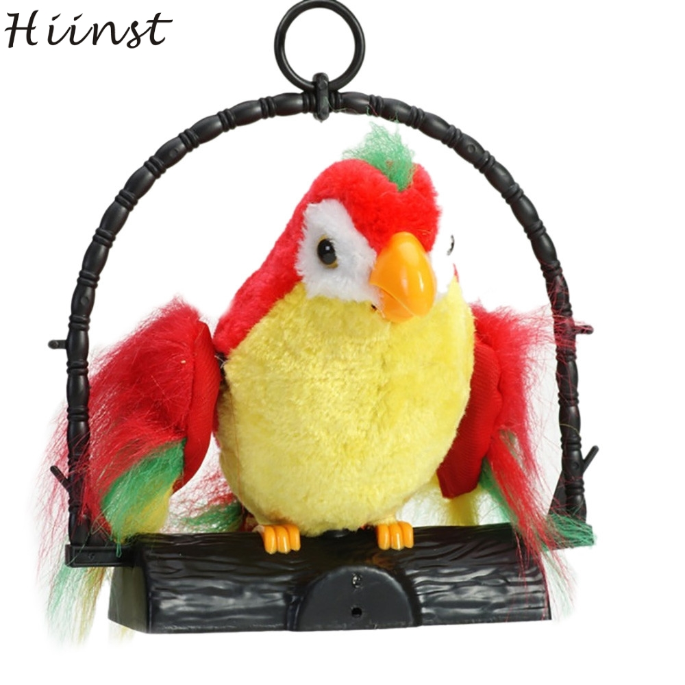 HIINST funny Creative Waving Wings Electricity Talking Talk Parrot Imitates & Repeats What You Say Gift Funny Toy gift may17 p30
