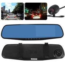 HD 1080 P Видеорегистраторы для автомобилей тире Камера двойной cam автомобиля спереди и сзади DVR объектив видео Регистраторы спереди и сзади двойной Камера трафик Регистраторы