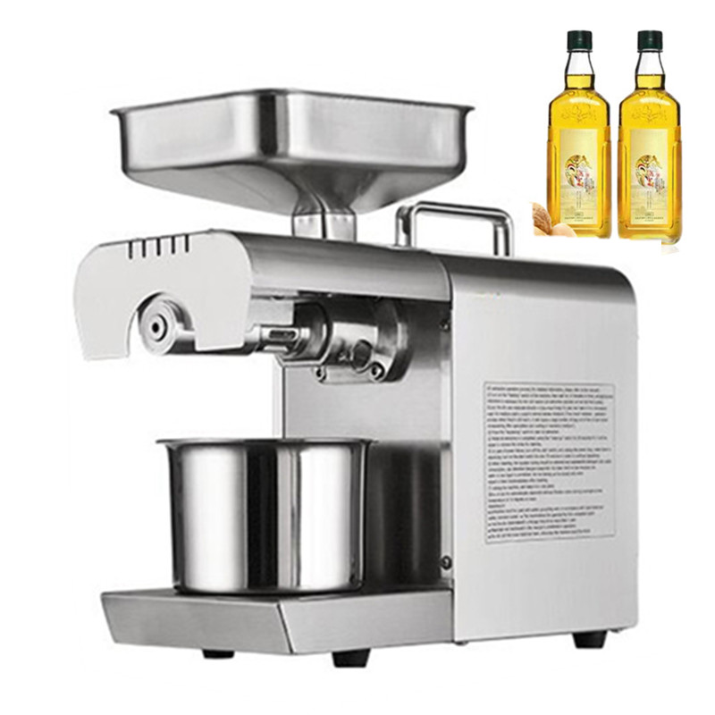 Kitchen Appliances Commercial Small Oil Press Machine Small Type Home Use Electric Peanut Sesame Oil Press Machine For Sale 110 240v commercial small oil press machine peanut sesame cold press oil machine high oil extraction rate cheap price page 1