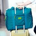 De gran capacidad de nylon de los hombres bolsas de Viaje A Prueba de Agua Unisex Bolsas de Bolsos de Las Mujeres Bolsa de Lona Del Viaje Del Equipaje de Viaje Plegable