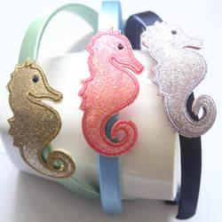 Новинка морской конек Hairbands блеск головные уборы для девушек милые для детей в форме животных аксессуар для волос 2 шт. молодых головные