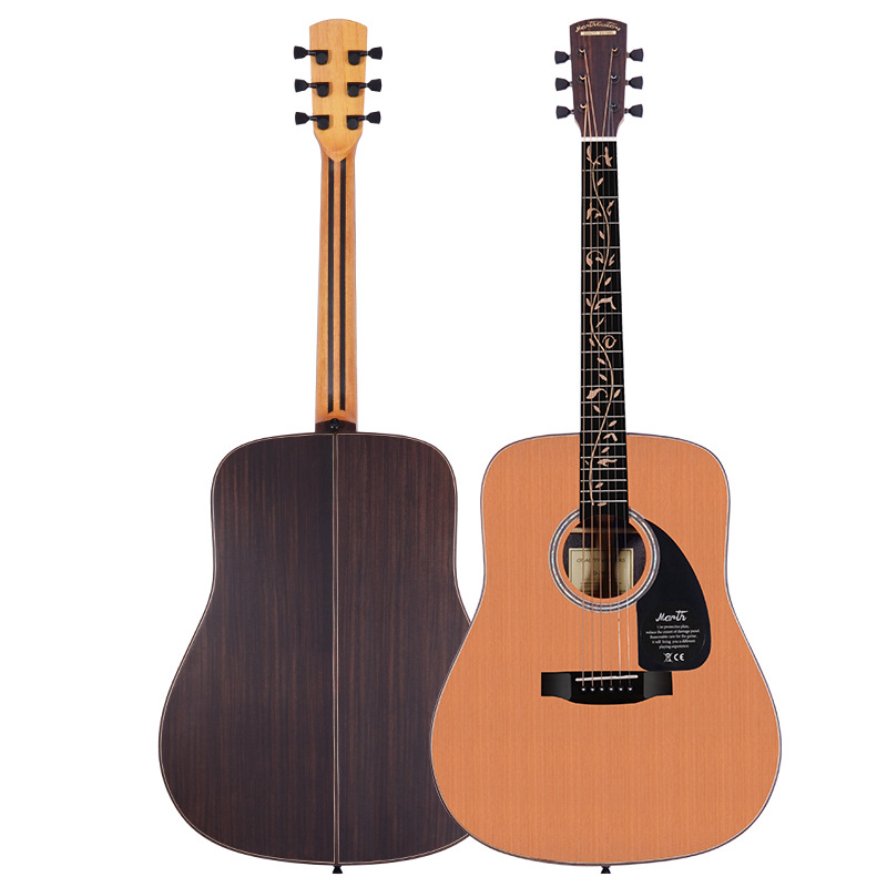 Solid Korean Pine Top Monoboard Rosewood Back and Sides Rosewood Fingerboard Acoustic Guitar 41 Inch Folk Guitarra Free Shipping spruce top sapele back and side rosewood fingerboard acoustic guitar 34 acoustic guitarra free shipping