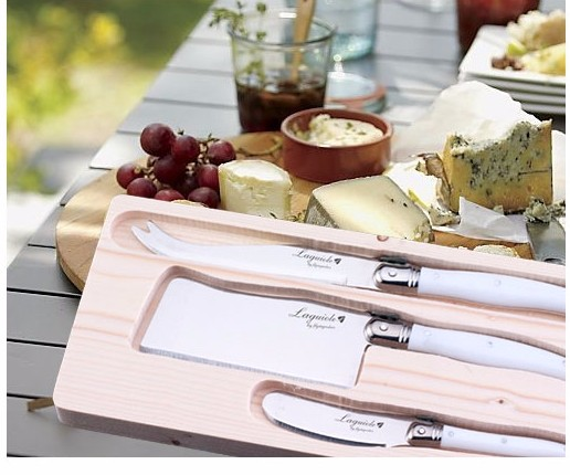 White cheese knife