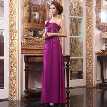 Elegant high quality long version design purple basic trumpeter model plus size dress long dress for adult women evening-dress trumpeter 1 32 ju 87a stuka plastic model kit 03213