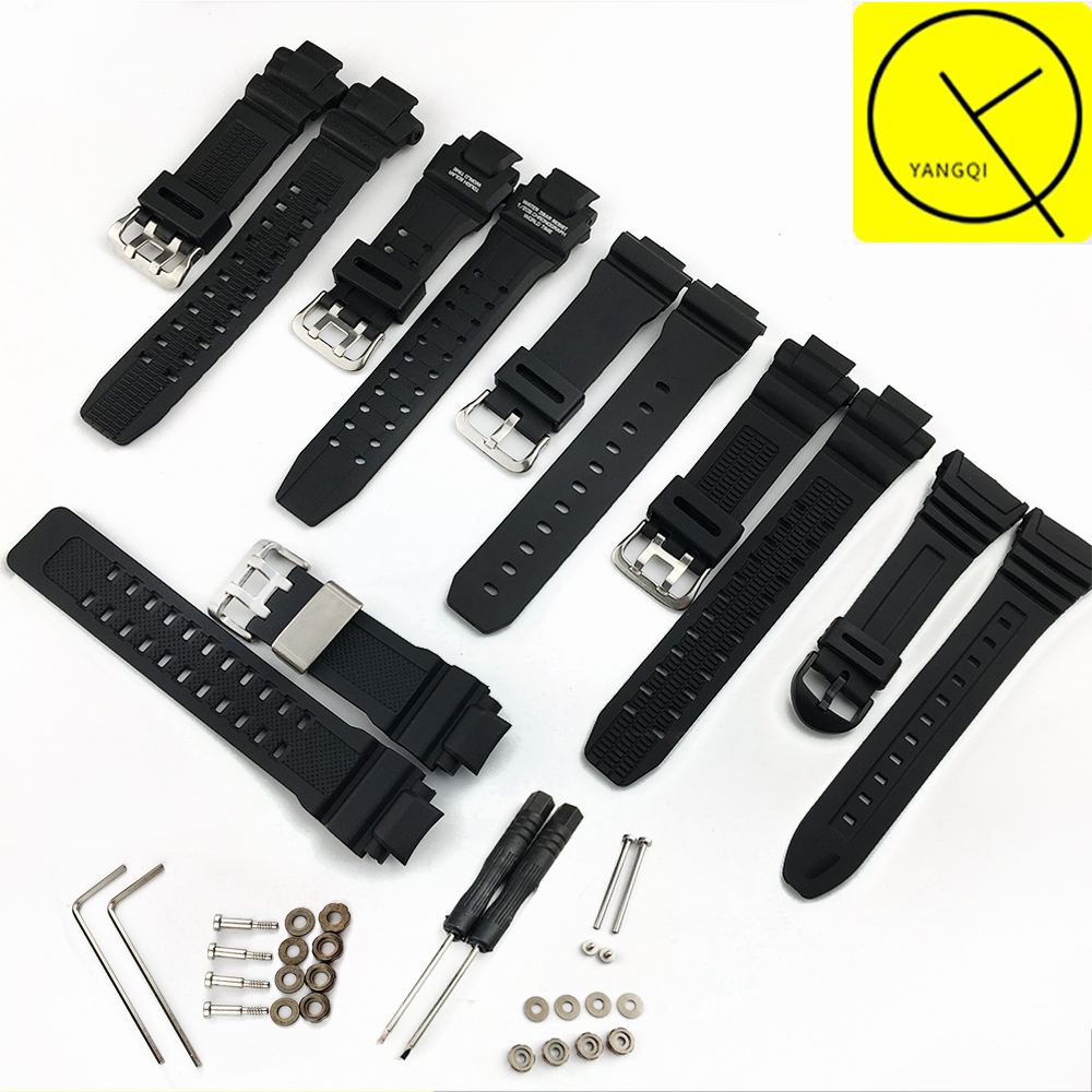 Rubber Watch Band for Casio W-96h GW-4000/GA-1000/GW-A1000/GW-A1100 GW-3500B/GW-3000B 6900Men Watch Strap Watch Accessories Band casio gw 9400 1e