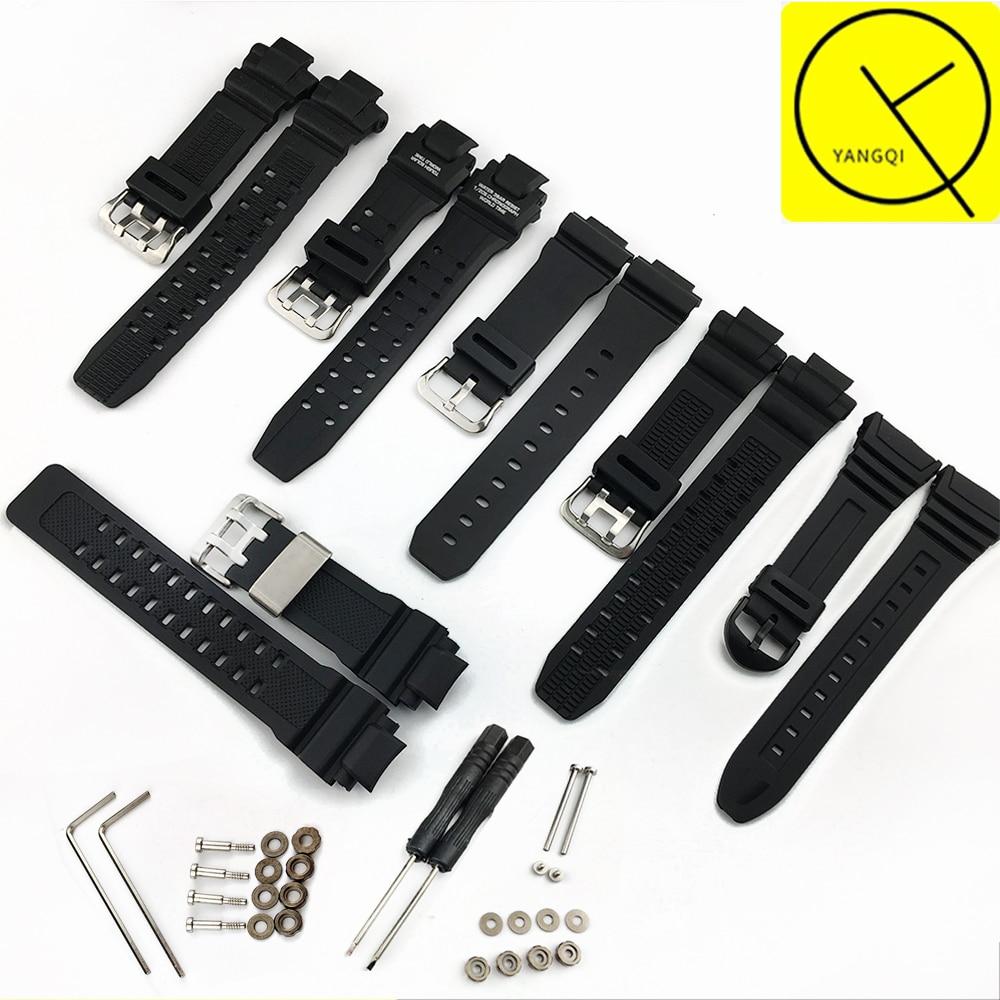 Rubber Watch Band for Casio W-96h GW-4000/GA-1000/GW-A1000/GW-A1100 GW-3500B/GW-3000B 6900Men Watch Strap Watch Accessories Band lg gw b489sqgz