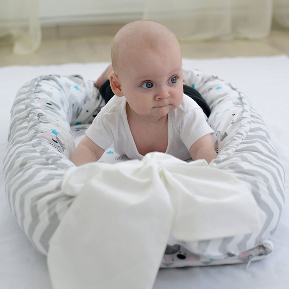 Portable Baby Nest Bed Crib Removable And Washable Crib Travel Bed For Children Infant Kids Cotton Cradle Dropshipping