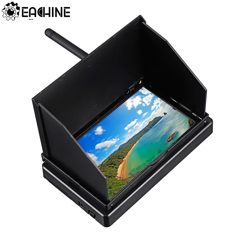5.8G 48CH 4.3 Inch LCD 480x22 16:9 NTSC/PAL FPV Monitor Auto Search With OSD Build-in Battery(China)