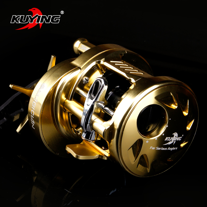 KUYING MAGICIAN 6.2:1 12+1 Metal Bait Casting Drum 286.5g Fishing Reel Vessel Wheel Saltwater Coil Centrifugal 8KG Free Shipping rover drum saltwater fishing reel pesca 6 2 1 9 1bb baitcasting saltwater sea fishing reels bait casting surfcasting drum reel
