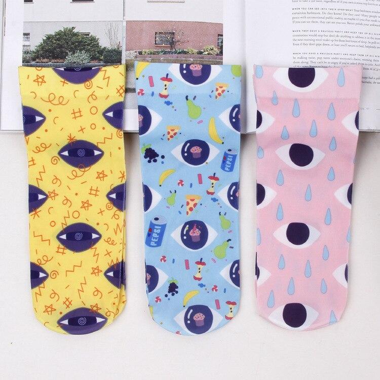 24ff07295642d Designer printemps et summer vintage original oeil Japonais chaussettes  velours art section mince chaussettes pour femmes calcetines meias dans  Chaussettes ...