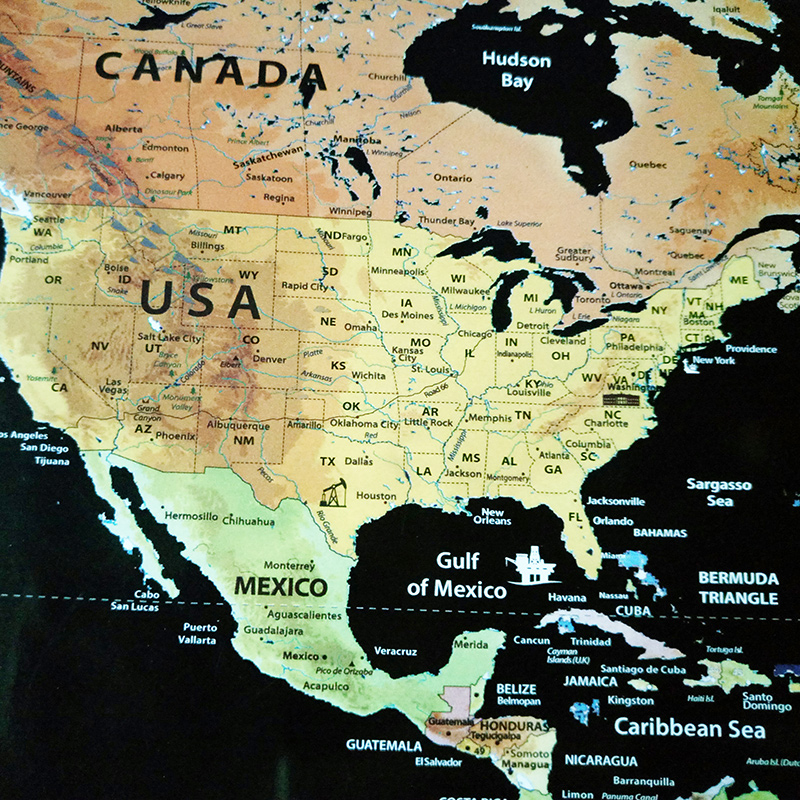 Aliexpress Com Buy World Map Scratch Off Map With Flags Us States Personalized Deluxe Travel Edition Scratch Off World Map Poster Black 82 5 Cm From