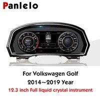 Panlelo панель инструментов 12,3 Навигатор с интеллектуальным полностью жидким кристаллом инструмент для Volkswagen Golf 2019 WiFi, трансляция звукозапис