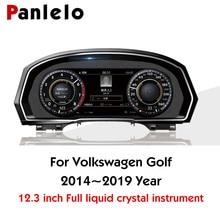"Panlelo Instrument Panel 12.3"" Navigator with Intelligent Full Liquid Crystal Instrument for Volkswagen Golf 2019 Wifi Airplay"