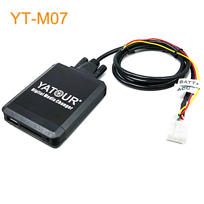 Yatour Car MP3 USB SD CD Changer for iPod AUX with Optional Bluetooth for Nissan Qashqai X-trail Pathfinder Navara Patrol Almera ветровики skyline nissan almera 3 g11 sd с заходом на заглушку бокового зеркала 12