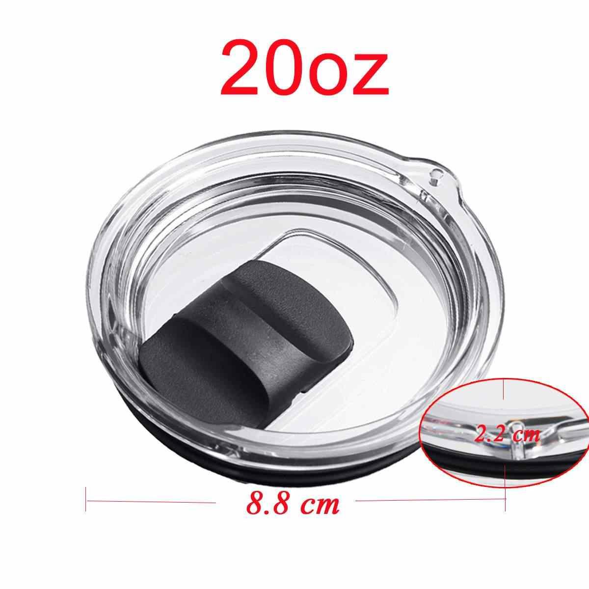 30 oz 20 oz كوب محكم الغلق للمشروبات الساخنة استبدال الأغطية كريستال واضح بهلوان MagSlider غطاء Spillsproof