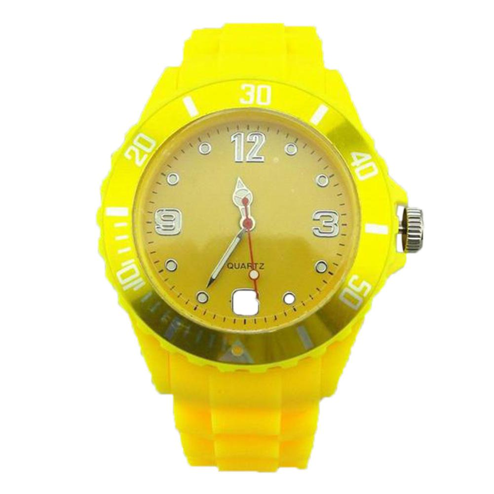 LinTimes Fashionable Plastic Lovers Jelly Watch Quartz Wrist Watch Ornament Gift